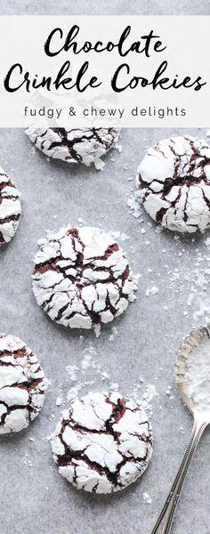 Chocolate Crinkle Cookies #chocolate #chocolatecookies #christmas
