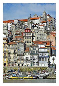Porto - Portugal Travel to Porto in Portugal to enjoy the architecture and… Porto Portugal, Spain And Portugal, Portugal Travel, Places Around The World, Travel Around The World, Around The Worlds, Places To Travel, Places To See, Algarve