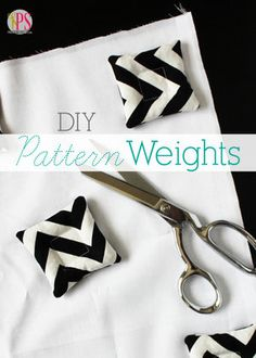 Sew Idea For Gifts Sew easy DIY pattern weights to use instead of pins when cutting out sewing projects. - Sew easy DIY pattern weights to use instead of pins when cutting out sewing projects. Sewing Tools, Sewing Hacks, Sewing Tutorials, Sewing Crafts, Sewing Ideas, Sewing Diy, Techniques Couture, Sewing Techniques, Pattern Weights