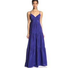 NWT Cynthia VINCENT cascata maxi silk Sold out!! Got it on ANTHRO, still NWT and no trades! Small petite. Empire tiered silk. Cynthia Vincent twelfth street Anthropologie Dresses Maxi