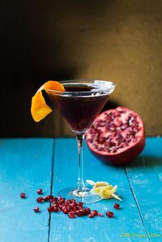 Pomegranate Ginger Champagne Cocktail via LittleFerraroKitchen.com