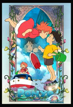 Ponyo on the Cliff by the Sea by jdesigns79 on DeviantArt