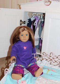 add fun pj pants to purple dress= Cute Pj's! :)