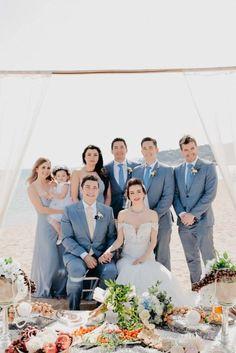 Persian ceremony in front of the sea - Vanessa Serrani Wedding Planner Barcelona Wedding Planner, Destination Wedding, Bridesmaid Dresses, Wedding Dresses, Persian, Barcelona, Fashion, Wedding Planer, Bridesmade Dresses