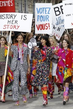 """BEING part of Karl Lagerfeld's Chanel catwalk """"protest"""" may have seemed like fun to onlookers, but one of the models involved – Gigi Hadid – said it wasn't as easy as it looked."""