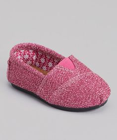 My little one is loving sparkle everything these days. These are adorable! :: Pink Frost Kaymann Slip-On Shoe on #zulily