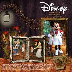 Disney meet and greet scrapbook idea layout