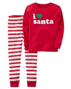 2-Piece Santa Snug Fit Cotton PJs. Kids Clothes BoysToddler ... f149d83a7