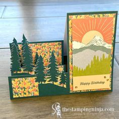 The Stamping Ninja - The Stamping Ninja Pumpkin Cards, Paper Pumpkin, Masculine Cards, Card Kit, Folded Cards, Stampin Up, Alternative, Happy Birthday, March