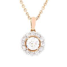 18 CARAT ROSE GOLD PENDANT AND CHAIN Rose Gold Pendant, Diamond Pendant, Pocket Watch, Bracelet Watch, Pendants, Chain, Bracelets, Accessories, Jewelry