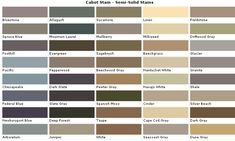 Solid Wood Stain Colors - Fence and Deck Stains - Color samples for decks and fences. Deck Stain Colors, Deck Colors, House Colors, Colours, Paint Color Combos, Paint Colors For Home, Cabot Stain, Semi Transparent Stain, Driftwood Stain