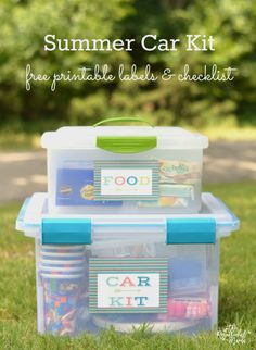 Car Travel, Travel Kits, Road Trip With Kids, Travel With Kids, Camping Hacks, Car Hacks, Kit Cars, Car Kits, Summer Diy
