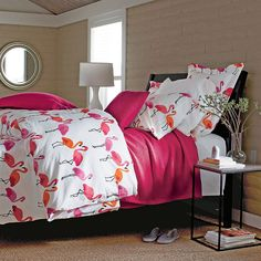 Flamingo Percale Sheets & Bedding | The Company Store. Too bright or crazy for my NYC bedroom? $84