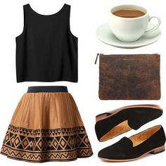 Untitled by hanaglatison on Polyvore featuring moda, Monki, Dieppa Restrepo and Comme des Garçons