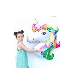 """Unicorn Balloon, Rainbow, 34"""", Unicorn, Unicorn Party, Crazy Unicorn,Uni Party, Birthday Decoration, Unicorn Balloons, Decoration, Party Dec by PartyHaus on Etsy https://www.etsy.com/au/listing/253086459/unicorn-balloon-rainbow-34-unicorn"""