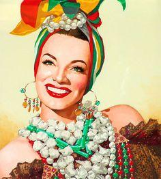 #Carmem Miranda  #colorful #Hollywood
