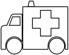 free ambulance coloring pages ambulance outline clip art vector clip art online royalty - Ambulance Coloring Pages Kids