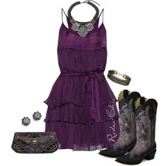 """""""Purple Haze"""" by rodeo-chic on Polyvore, @corralboots"""