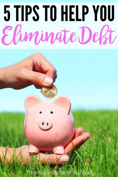 5 tips to help you get out of debt - these are some great tips that will help you eliminate your debt!