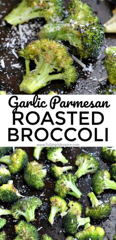 Garlic Parmesan Roasted Broccoli is an easy yet fantastic healthy side dish. Quick 5 minute prep for a bursting with flavor veggie! | www.ToSimplyInspire.cm #broccoli #roasted #healthy #easy
