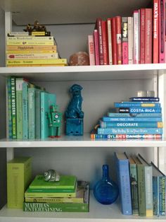 Organising books according to their colours