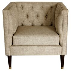 Tufted arm chair Nate Berkus 54 Beautiful Interior European Style Ideas To Make Your Home Look Outstanding – Tufted arm chair Nate Berkus Source Chic Living Room, Living Room Grey, Living Room Chairs, Living Room Furniture, Furniture Chairs, Condo Living, Pipe Furniture, Office Furniture, Dining Room