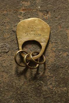 真鍮 プレート キーホルダー - Brass Plate Key Holder - IRRE