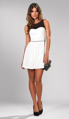 White Dress £45 Black Bag £30 - From the Kardashian Kollection at Dorothy Perkins