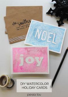 Homemade Watercolor Christmas Cards at Darice