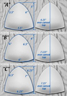 Satiny Tricot Covered Push-up Triangle Bra Cups for Bra gown swimsuit Wedding or Prom. Sew-in. White sizes A B C D DD Sewing Bras, Sewing Lingerie, Sewing Clothes, Diy Clothes, Bralette Pattern, Bra Pattern, Bikini Pattern, Hoodie Pattern, Sewing Hacks