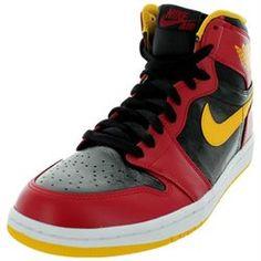 5e12834016cd Nike Men s Air Jordan 1 Retro High OG Black Gym Red University Gold  Basketball