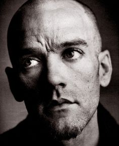 Michael Stipe (even in black and white his eyes are wonderful) Music Love, My Music, Michael Stipe, Bald Men, Music People, Thats The Way, Music Icon, Star Wars, Portrait Inspiration