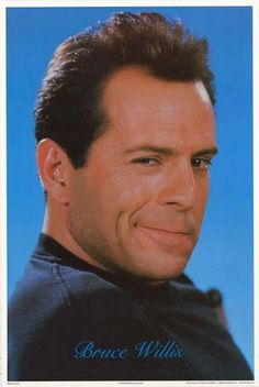 A classic portrait poster of the ever-handsome action movie legend Bruce Willis…