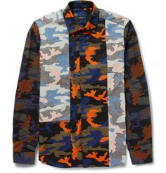 Givenchy Camouflage-Print Panelled Shirt