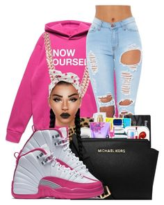 """pink"" by ballislife ❤ liked on Polyvore featuring BaubleBar"
