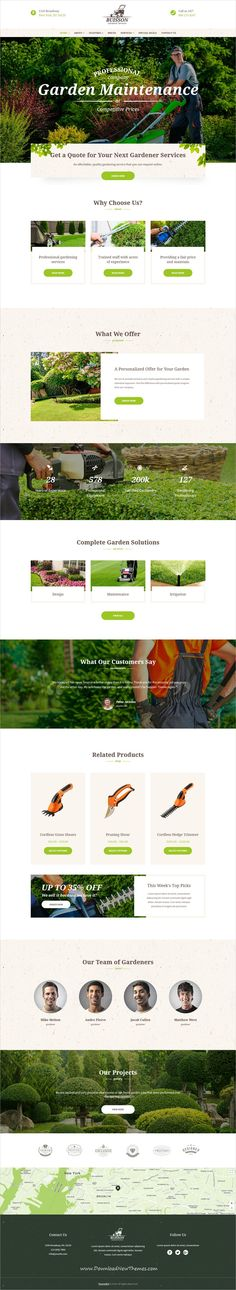 Buisson is clean and modern design 3in1 responsive #WordPress theme for #gardening and #lawn services website to live preview & download click on Visit