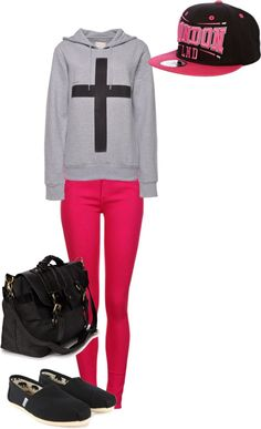 """""""lazy but cute outfit!"""" by allasfashion on Polyvore"""