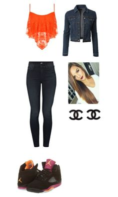 """Outfit for Monday"" by mayawhite04 ❤ liked on Polyvore featuring NIKE, WearAll, Mother and LE3NO"
