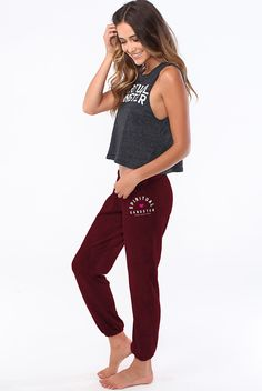 Spiritual Gangster Red Sweatpant https://www.evolvefitwear.com