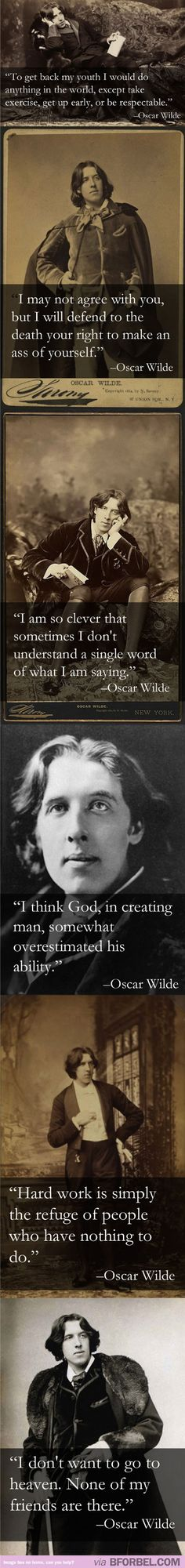 Oscar Wilde is just the sassiest person who lived in his time