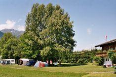 Camping Tiefental - Kleiner Campingplatz in Pettnau Tirol langs de Inn met uitzicht op Hohe MUnde