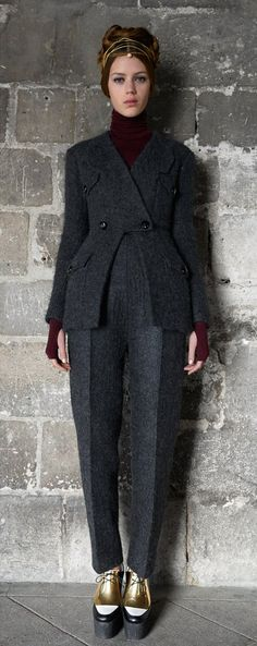 Full wool outfit for fall from Céline