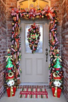 Our Whimsical Christmas Front Door 2013 our whimsical christmas door christmas decorations, re Porch Christmas Lights, Front Door Christmas Decorations, Christmas Front Doors, Decorating With Christmas Lights, Christmas Home, Christmas Wreaths, Christmas Ideas, Merry Christmas, Christmas Snowman