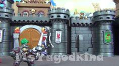 Abrimos conjunto de juguetes castillo de aventuras. Jugamos los caballer...