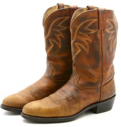 Durango Mens Cowboy Boots Size sz 11 D Brown Leather Western Work Boot