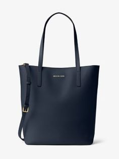 b60c95842a5449 MICHAEL Michael Kors Emry Large NS Leather Tote Admiral >>> Be sure to  check out this awesome product. (This is an affiliate link) 0