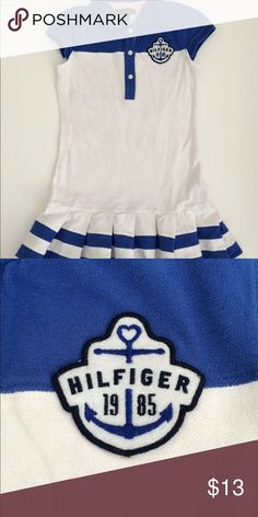 GIRLS' TOMMY HILFIGER NAUTICAL DRESS SIZE S GIRLS' TOMMY HILFIGER NAUTICAL DRESS SIZE S (6-7) Tommy Hilfiger Dresses