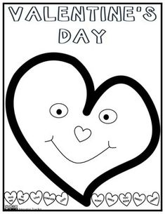 Valentine's Day Coloring Page by Innovative Teacher