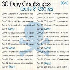 Guts & Glutes 30 Day Challenge