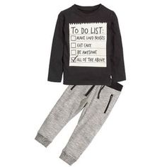 Bear Leader Baby boy clothes 2018 New Spring Dark Grey Long Sleeve t-shirt + casual long pants suit kids clothes For Baby Boy Outfits, Kids Outfits, Toddler Outfits, Casual Pants, Casual Shirts, Pantalon Long, Clothes 2018, Grey Outfit, Kids Pants